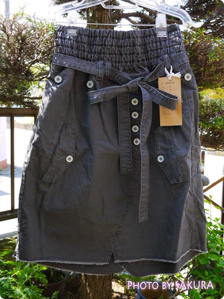 オシャレウォーカーオリジナル アシンメトリーデザインカーゴスカート