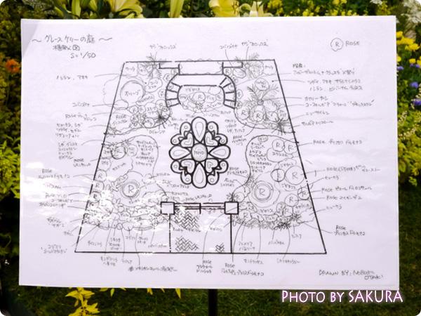 第16回国際バラとガーデニングショウ『グレース・ケリーの庭』構成図