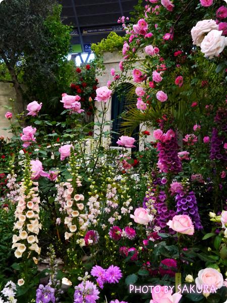 第16回国際バラとガーデニングショウ『グレース・ケリーの庭』右側から