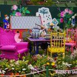 まるで再現!『不思議の国のアリスの庭』アリスにウサギにチュシャ猫