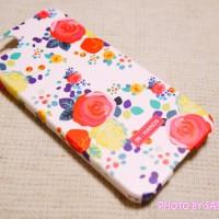 happymori『Flower Cluster』White rose柄 iphone5s 全体