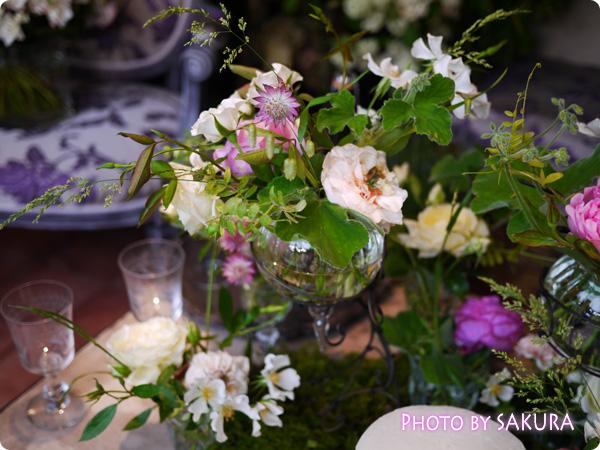 フラワーアーティスト ローラン・ボーニッシュ 『Provance~プロヴァンスな幸せな一日~』室内の花瓶