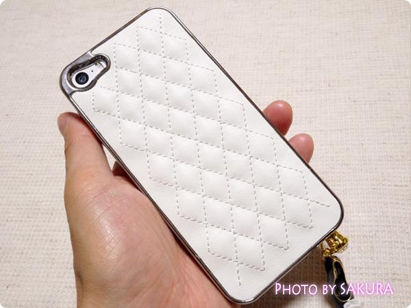 キルティングレザースマホケース iPhone5S