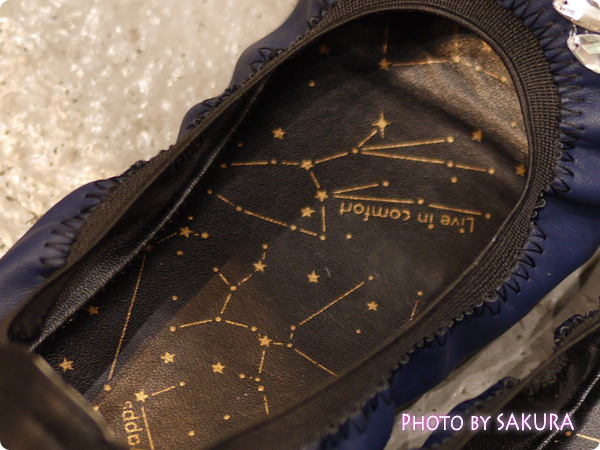 FELISSIMO フェリシモ リブ イン コンフォート 夜空を旅する星まといくにゃっプス 中敷き
