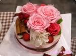 【日比谷花壇】まるでデコレーションケーキなフラワーアレンジメントが可愛い!