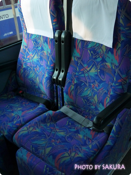西武高原バス 高速バス 座席シート