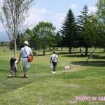 軽井沢プリンスショッピングプラザ(軽井沢アウトレット) 芝生のひろば ペット連れ