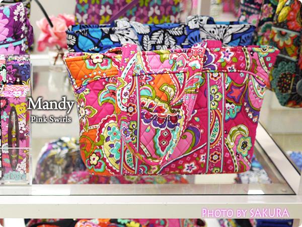 Vera Bradley ヴェラブラッドリー Pink Swirls ピンク・スワールズ Mandy  マンディ