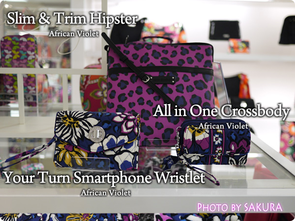 African Violet Your Turn Smartphone Wristlet アフリカン・バイオレット All in One Crossbody  Leopard Spots Slim & Trim Hipster