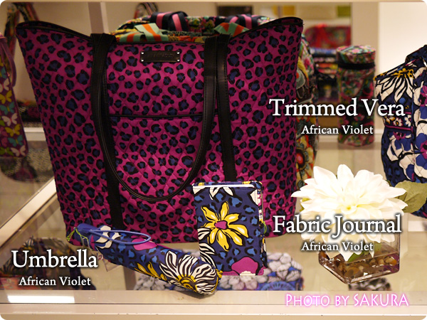Vera Bradley ヴェラブラッドリー Trimmed Vera Fabric Journal  Umbrella