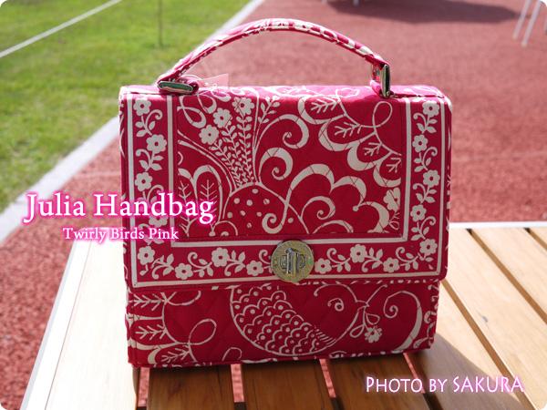 Vera Bradley ヴェラ・ブラッドリー  Julia Handbag ジュリア・ハンドバッグ  Twirly Birds Pink