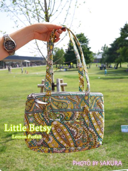 Vera Bradley ヴェラ・ブラッドリー Little Betsy リトル・ベッツィー Lemon Parfait