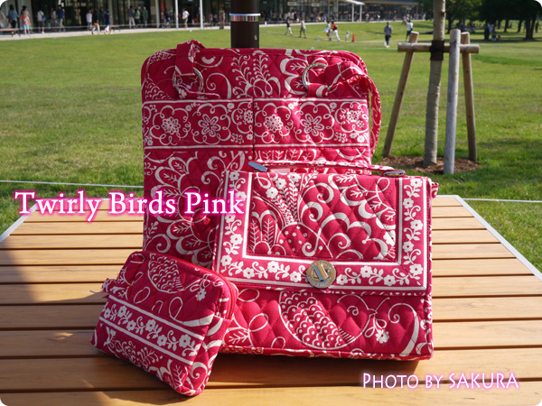 Vera Bradley ヴェラ・ブラッドリー Twirly Birds Pink