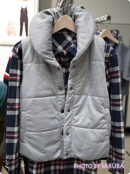 中綿ベスト + ベーシックチェックネルシャツ
