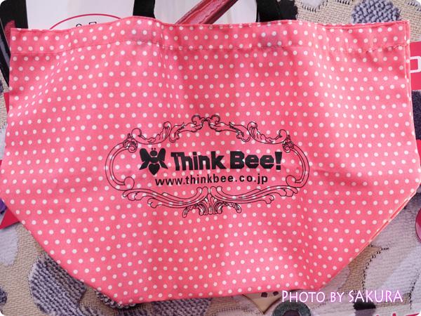 Think Bee!(シンクビー!)×LiLiCo 第2弾コラボ リリービー バッグについてくるエコバッグ