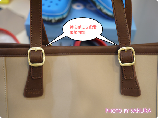 crocs クロックス wrap ColorLite bag ラップ カラーライト バッグ 持ち手は3段階で調整可能