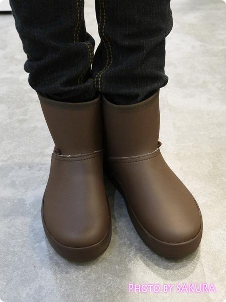 crocs ColorLite boot w クロックス カラーライト ブーツ ウィメン ブラウン 着画