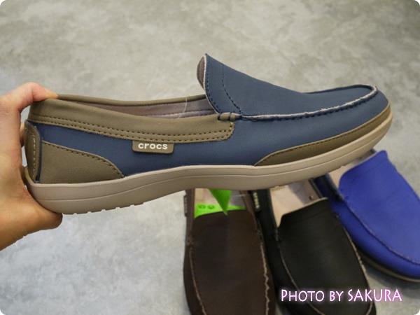 wrap ColorLite loafer men ラップ カラーライト ローファー メン navy / tumbleweedアップ