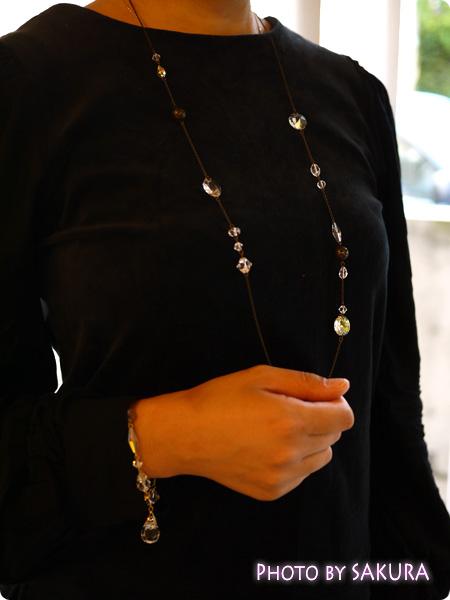 FELISSIMO フェリシモ チェコのシャンデリア職人と作った ボヘミアガラスがきらめく アクセサリーの会 ネックレスとブレスレット