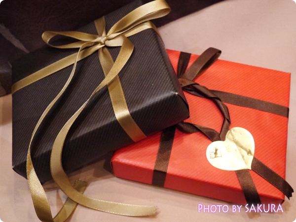 グレンチェック プレゼント包装例