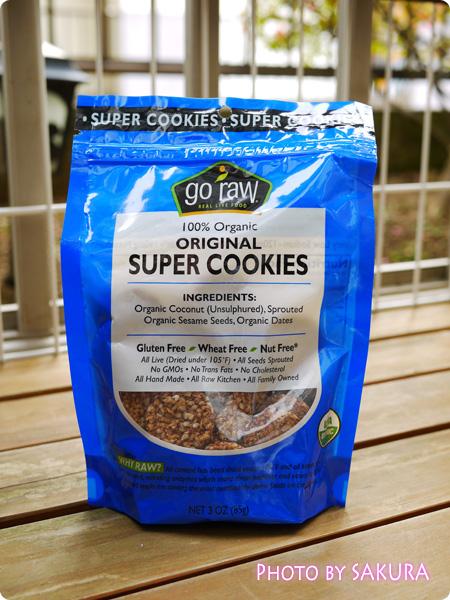 iHerb アイハーブ Go Raw, オーガニックスーパークッキー, オリジナル, 3オンス (85 g)