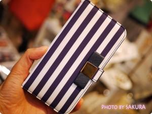 LB ストライプiPhoneケース iPhone6 ネイビー