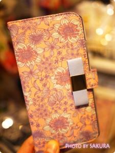 LB フラワーiPhoneケース iPhone6 ピンク