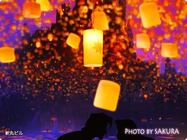 丸の内イルミネーション2014 クリスマス 映画「塔の上のラプンツェル」 ランタンアップ