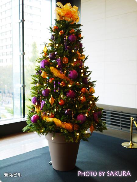 丸の内イルミネーション2014 クリスマス 映画「塔の上のラプンツェル」 クリスマスツリー