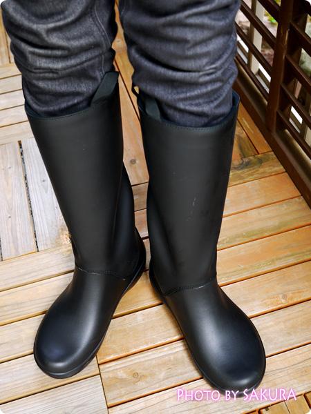 クロックス「rain floe boot w レインフロー ブーツ ウィメンズ」着画