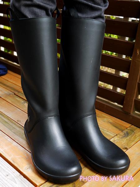 クロックス「rain floe boot w レインフロー ブーツ ウィメンズ」着画2