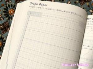 ほぼ日手帳2015(1月はじまり) 折れ線グラフ、棒グラフがかける