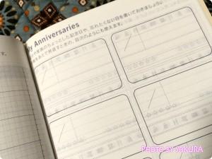 ほぼ日手帳2015(1月はじまり) My Anniversaries 記念日