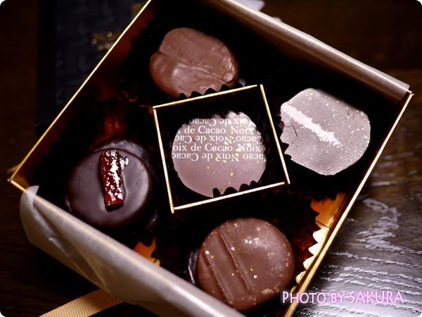 noix de cacao(ノワドカカオ) リッシュショコラ 5個入り 中身