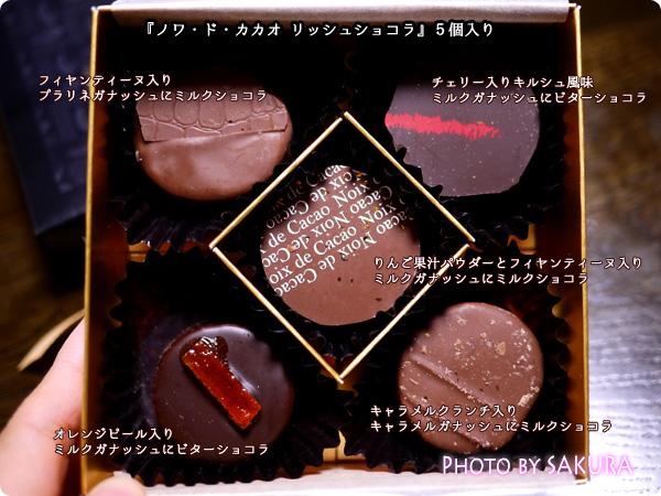 noix de cacao(ノワドカカオ) リッシュショコラ 5つのフレーバー紹介