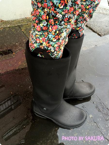 クロックスのレインブーツ「rain floe boot w レインフロー ブーツ ウィメンズ」雨の日はこれ!