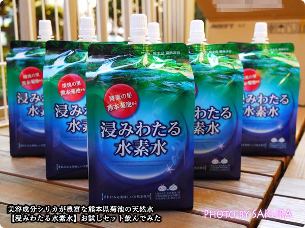 美容成分シリカが豊富な熊本県菊池の天然水【浸みわたる水素水】お試しセット飲んでみた