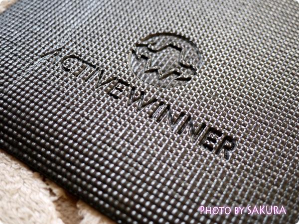 Active Winner ヨガマット (ストラップ付) 6mm ブラック 軽量 滑りにくい 素材アップ