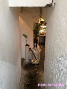 ベジタリアン・ヴィーガンレストラン Ainsoph. journey アインソフジャーニー 地下へと降りていく階段
