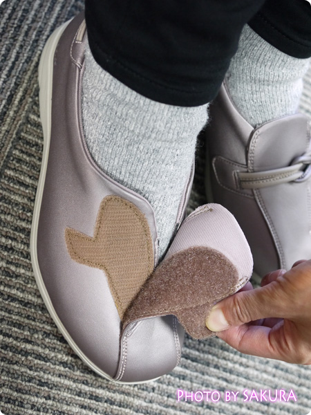 アシックス ライフウォーカー304 ピンク 脱ぎ履きはとても楽