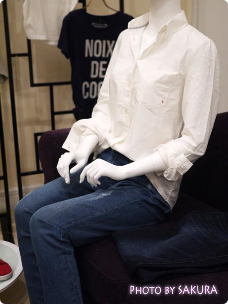 セシール and moi シャツとジーンズ