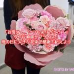 【母の日2015】カーネーションの形の花束「ペタロ・カーネーション ペーシェ」サプライズに[日比谷花壇]
