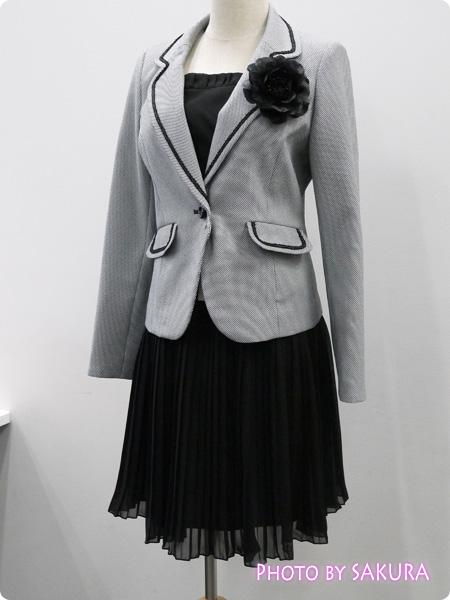ニッセン 卒業式・入学式(卒園式・入園式) 異素材スーツ リボンを外したバージョン