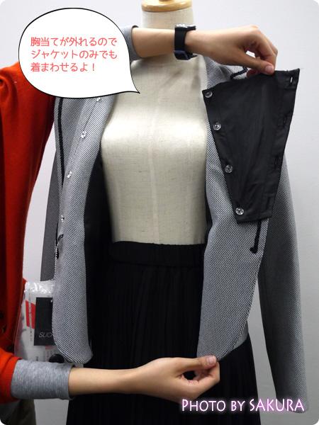 ニッセン 卒業式・入学式(卒園式・入園式) 異素材スーツ 取り外し可能な胸当て