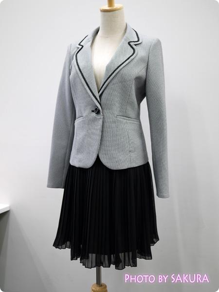 ニッセン 卒業式・入学式(卒園式・入園式) 異素材スーツ シンプルなスーツとして着回しOK