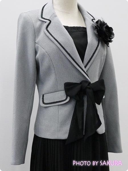 ニッセン 卒業式・入学式(卒園式・入園式) 異素材スーツ ジャケットアップ