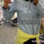 ランズエンドのデニムシャツ「レディス・美型シルエット・シャンブレー・シャツ/ライトインディゴ/長袖」、イニシャル刺しゅうで自分だけの一枚に