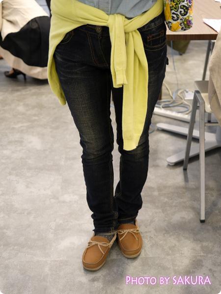 クロックス crocs wrap ColorLite loafer w(ラップ カラーライト ローファー ウィメン )着画 コーデ