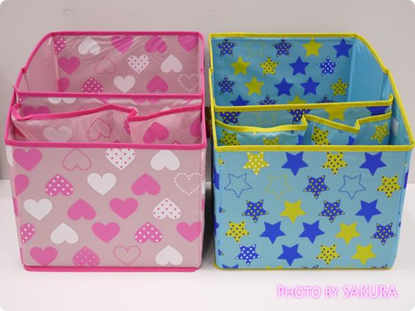 ランドセル収納ボックス 色はハートピンクとブルースターの2タイプ