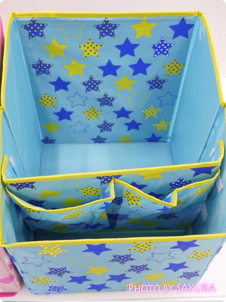 ランドセル収納ボックス 文房具やリコーダーなども収納できる。おもちゃ箱としても